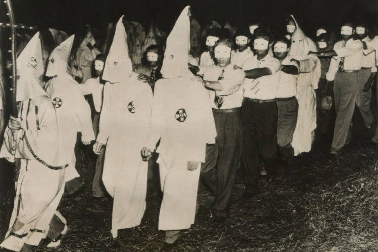 A Ku Klux Klan foi uma organização terrorista adepta dos ideais da supremacia branca.
