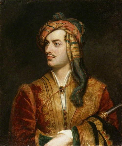Lord Byron com roupa albanesa, obra de Thomas Phillips (1770-1845).