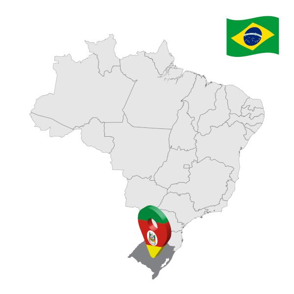 Mapa com a localização do Rio Grande do Sul.