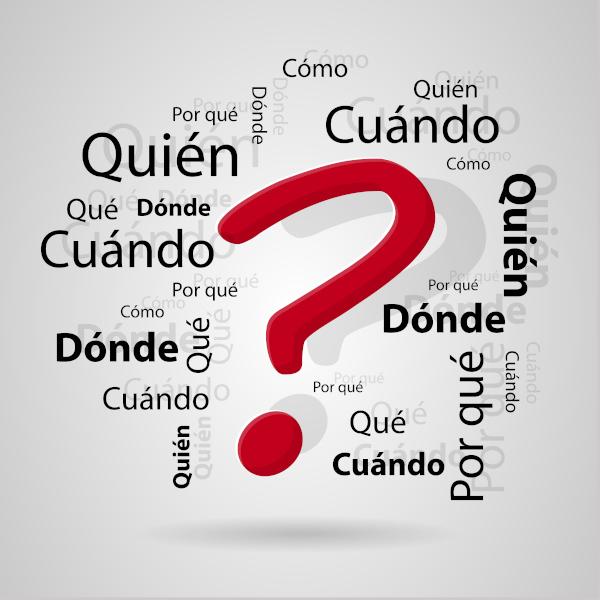 Os pronomes interrogativos e exclamativos em espanhol são diferenciados de outras classes gramaticais por serem acentuados.