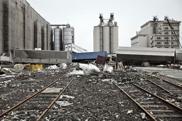 Usinas após os tsunamis. Fukushima, Japão.