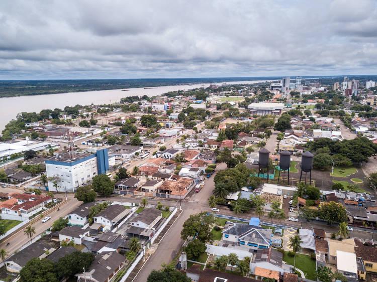 Vista aérea de Porto Velho, Rondônia.