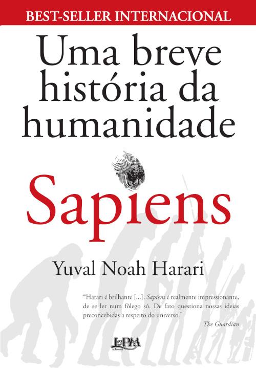Capa do livro Sapiens, de Yuval Noah Harari, publicado pela editora L&PM. |1|