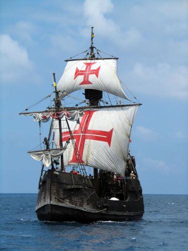 Embarcações como as caravelas eram responsáveis por levar o pau-brasil do Brasil para Portugal.