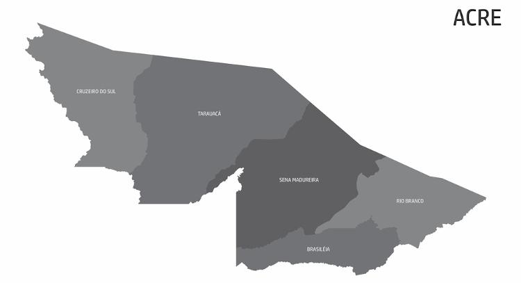 Divisão regional do Acre.