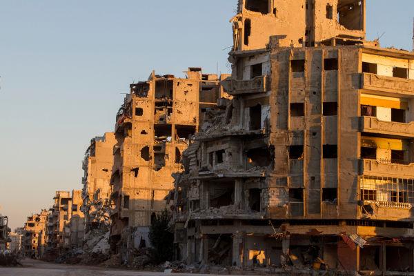 A Guerra Civil Síria causou milhares de mortes e deixou cidades inteiras destruídas.