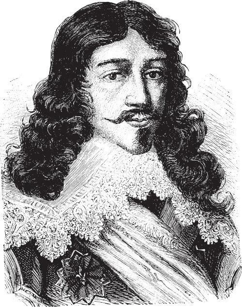 O rei Luís XIII organizou um exército com 120 mil soldados e derrotou a dinastia dos Habsburgo, que dominava o Sacro Império Germânico e a Espanha.