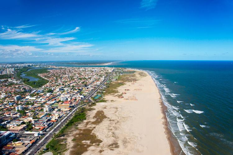 Praia de Aracaju, capital de Sergipe.