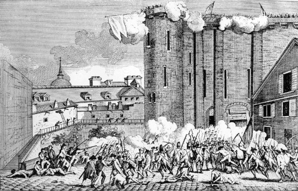 A Queda da Bastilha, em 14 de julho de 1789, foi o estopim para a Revolução Francesa.