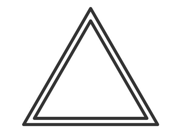 O triângulo é equilátero quando os seus lados são congruentes.