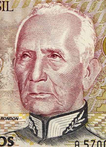 Imagem de Cândido Rondon que estampou a cédula de mil cruzeiros, em 1990.