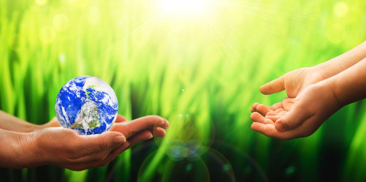 Devemos cuidar do meio ambiente para garantirmos um planeta saudável para as próximas gerações.