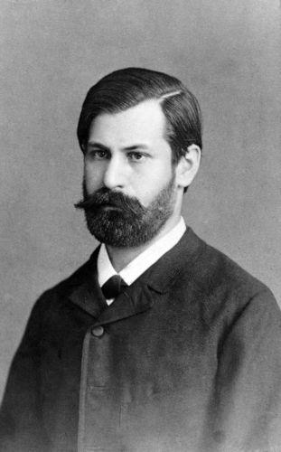 O jovem Sigmund Freud estudou Medicina na Universidade de Viena.