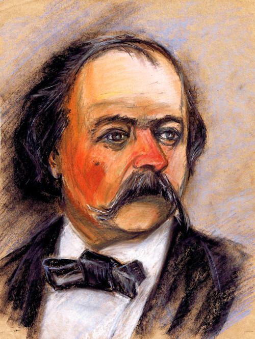 """Gustave Flaubert"", obra de German Vizulis."