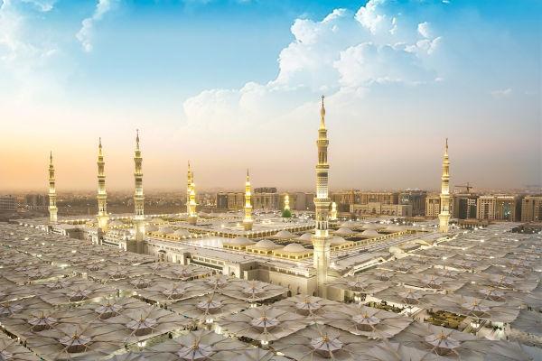 Medina, a cidade onde Muhammad recebeu abrigo ao sofrer perseguição em Meca.[2]