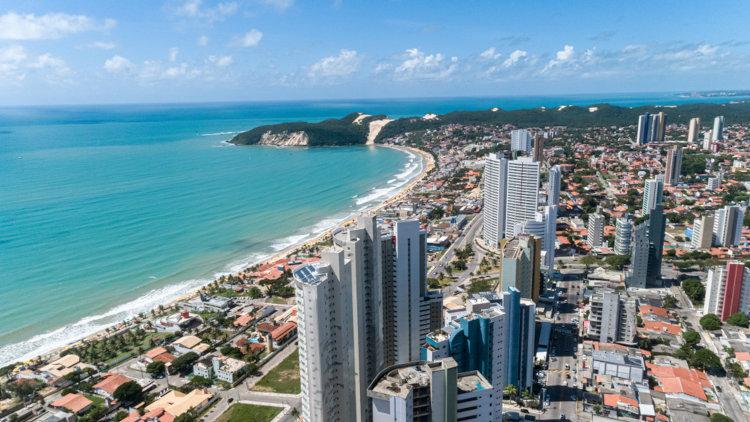 Vista aérea de Natal, capital do Rio Grande do Norte.