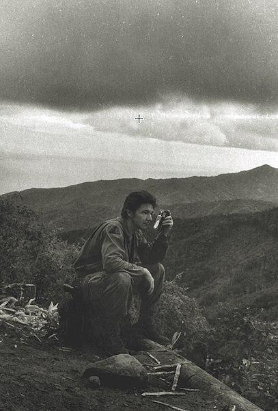 Raúl Castro, em 1958, quando foi comandante das tropas dos rebeldes que combateram o governo liderado por Fulgêncio Batista.