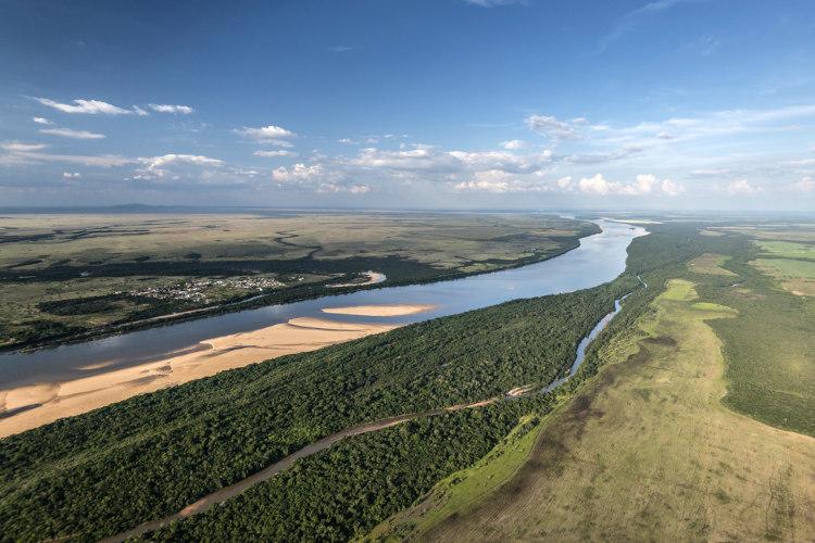 O Rio Branco é um dos principais de Roraima.