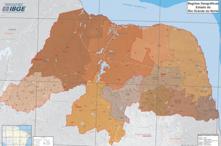 Regiões geográficas intermediárias do Rio Grande do Norte.