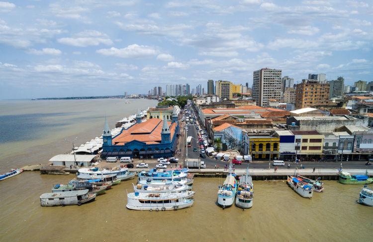 Vista aérea de Belém, Pará, Brasil.