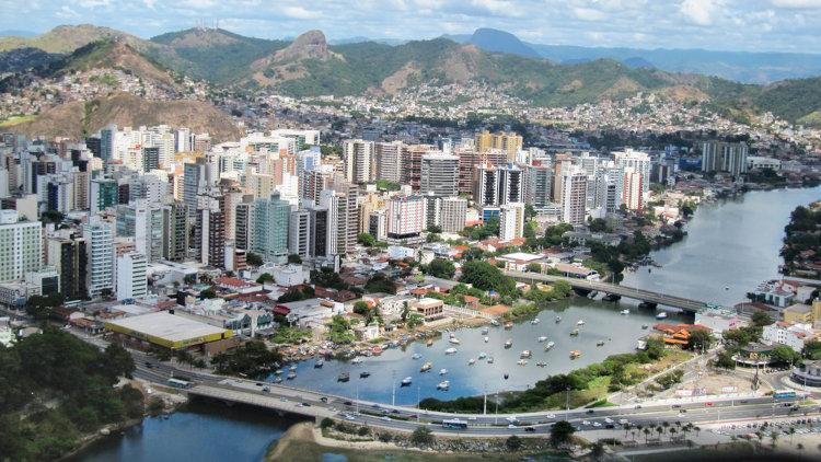 Vitória, capital do Espírito Santo.