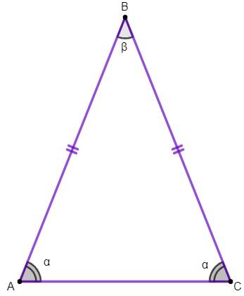 Os ângulos da base são congruentes.