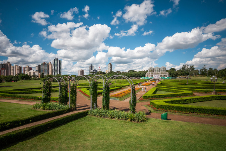 Jardim Botânico em Curitiba, Paraná.
