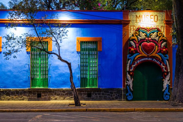 La Casa Azul, local onde Frida residiu durante anos. Atualmente, o local é um museu.[3]
