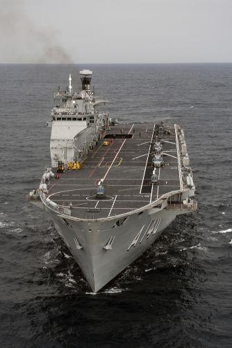 A140 - Atlântico, o único navio-aeródromo multipropósito da Marinha brasileira.[2]