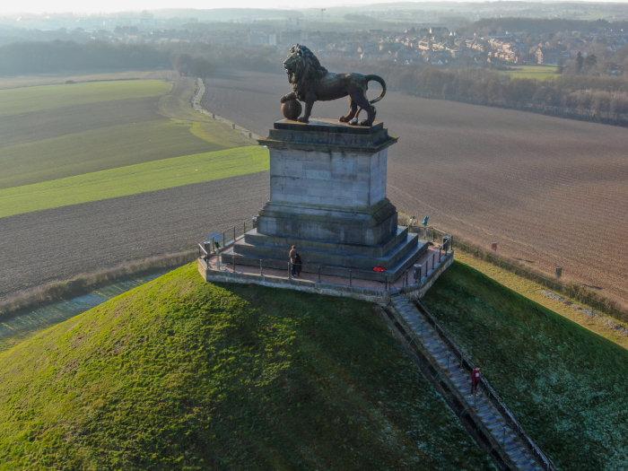 Monumento que recorda o local onde aconteceu a Batalha de Waterloo, em 1815.