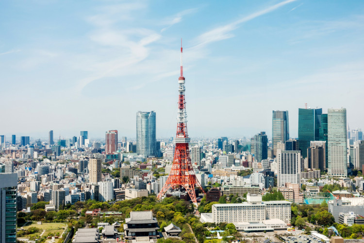Vista da Torre de Tóquio