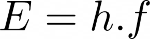 Equação para cálculo da energia mínima para ocorrência do efeito fotoelétrico