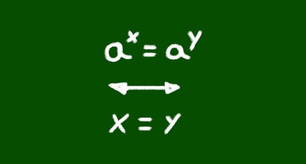 Equação exponencial é quando a incógnita está no expoente.