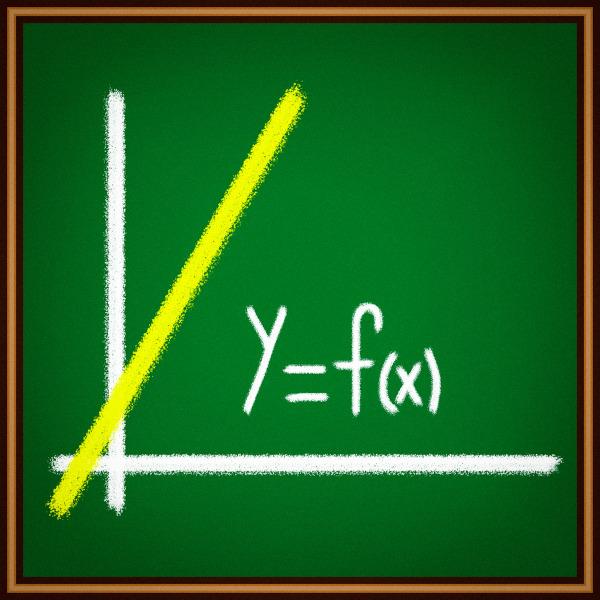 Representação do gráfico de uma função polinomial do 1º grau.