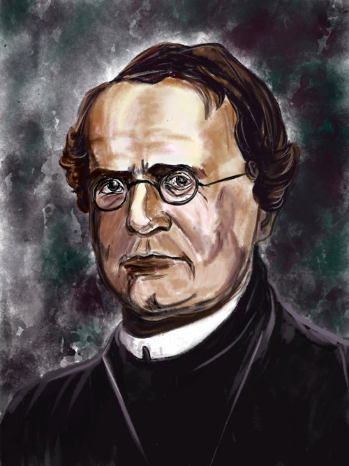 """Gregor Mendel é conhecido como o """"pai da genética""""."""