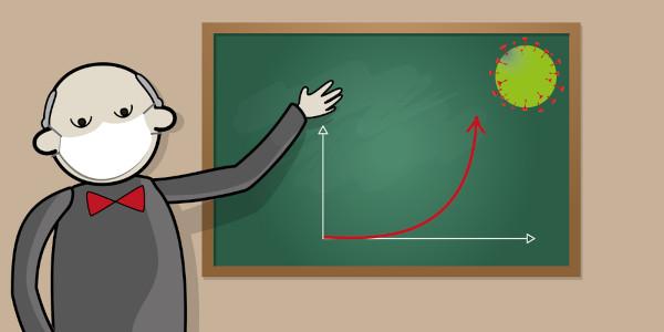 A função exponencial é útil para a compreensão de fenômenos cotidianos, como o crescimento de casos de uma doença.