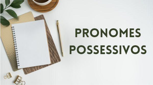 Os pronomes possessivos são uma das categorias de pronomes.