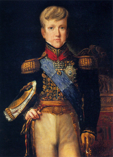 Retrato do Imperador Dom Pedro II aos 12 anos.