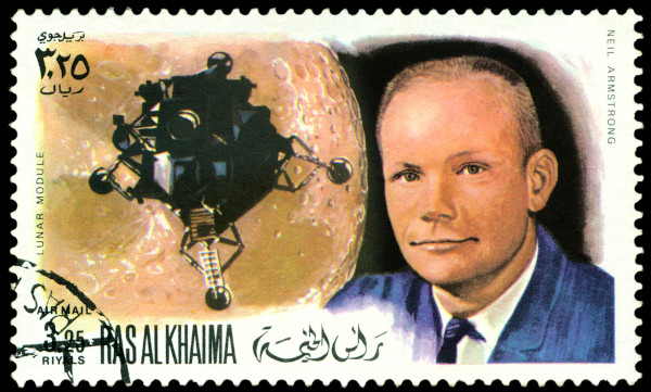 Neil Armstrong entrou para a história como o primeiro homem a pisar na Lua, em 1969. [1]