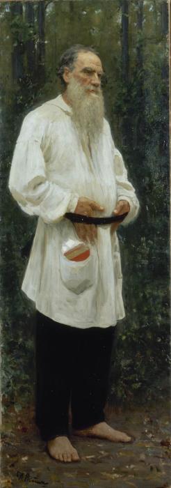Liev Tolstói, obra de Ilya Repin (1844-1930).