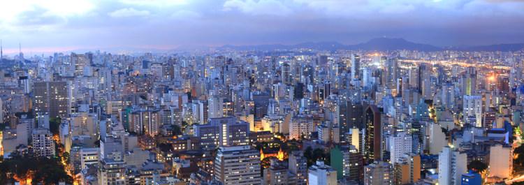Vista aérea da capital paulista.