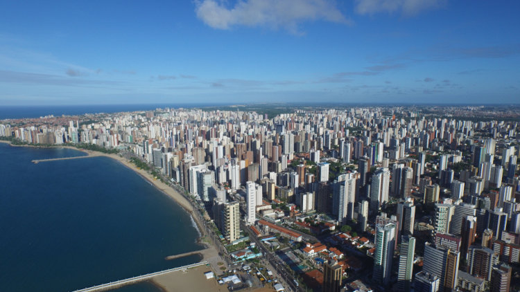 Vista aérea de Fortaleza, Ceará.