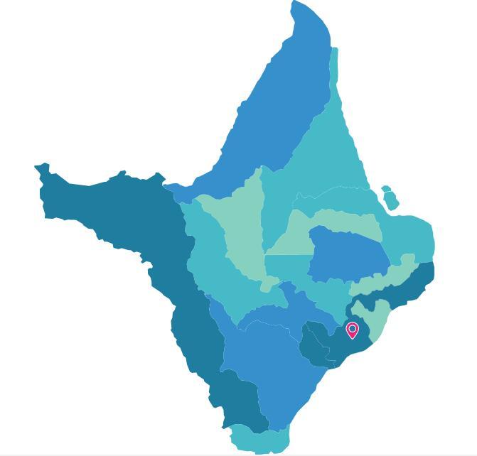 Mapa do Amapá com destaque para Macapá.