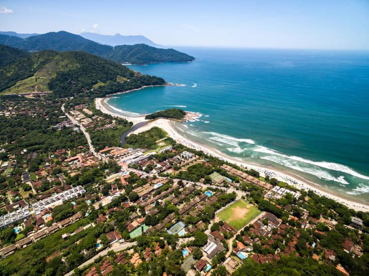 Praia de Camburi, em São Sebastião, SP.