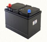 Bateria de chumbo que contém ácido sulfúrico