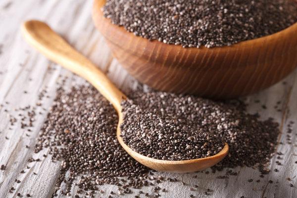 Muitas sementes são utilizadas na alimentação, como é o caso da semente de chia.
