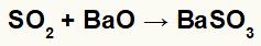 Equação representando a formação do sulfito de bário.