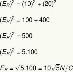 Cálculo do campo elétrico – exercício 2