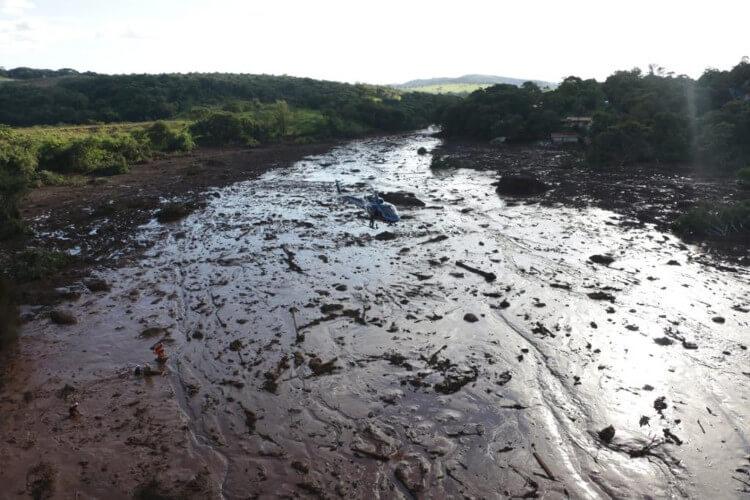 Rejeitos da barragem em Brumadinho