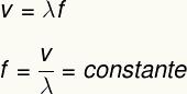 Fórmula para cálculo da frequência da luz